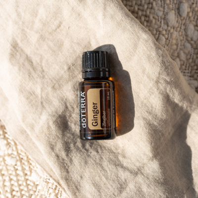 doTERRA Ginger essential oil bottle. How do you use Ginger oil? Ginger oil can be used to help with digestion or to add flavor to food.