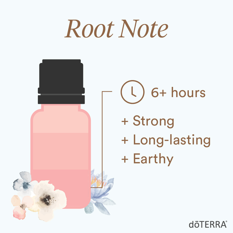 When layering scents, use a root note. It will last at least six hours. These essential oils have a strong, long-lasting, earthy aroma.
