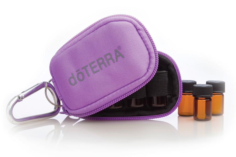 doTERRA Purple Sample Vial Keychain