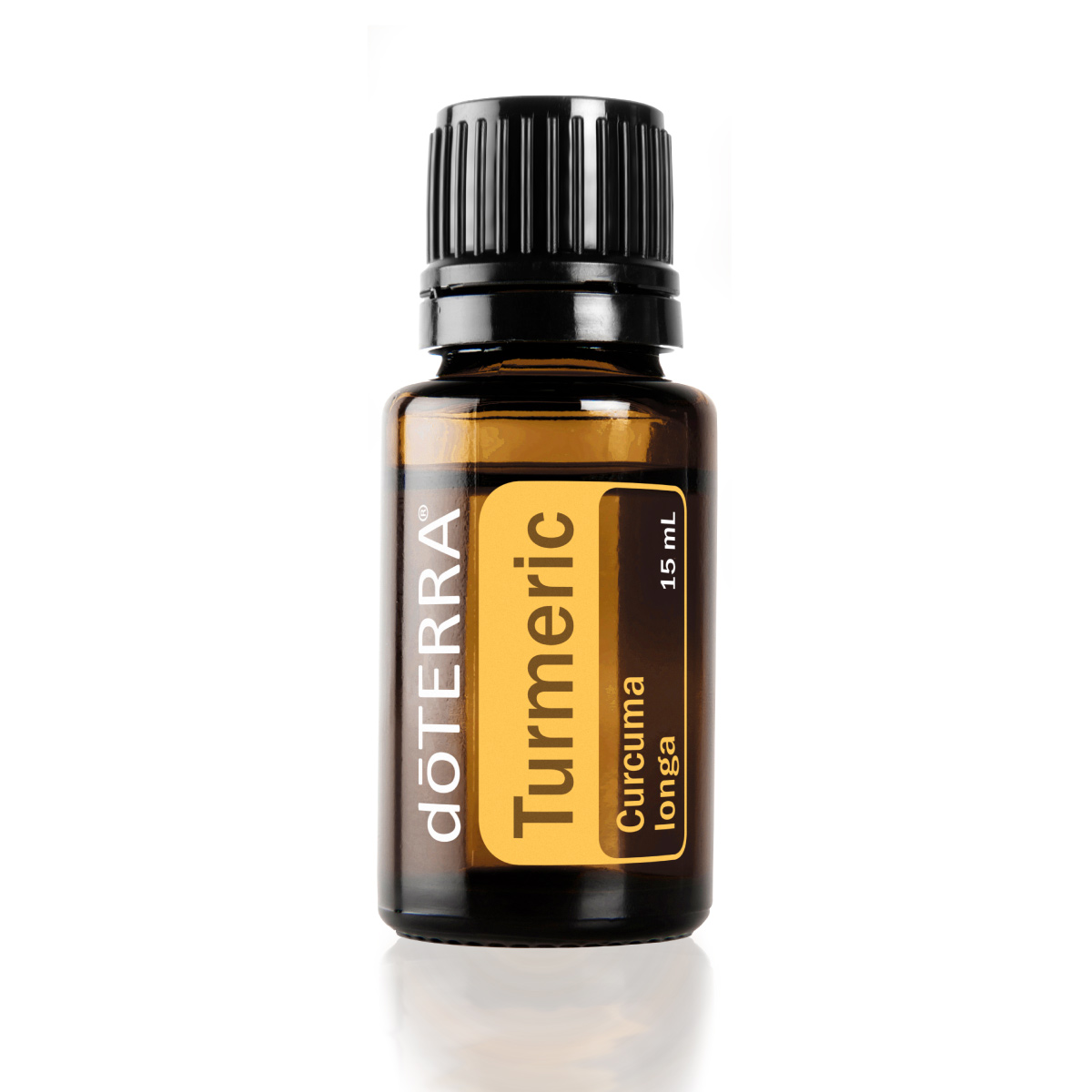 Bottle of doTERRA Turmeric essential oil. How do you use Turmeric oil? Turmeric oil can be used internally to benefit the nervous system and promote a healthy immune response.