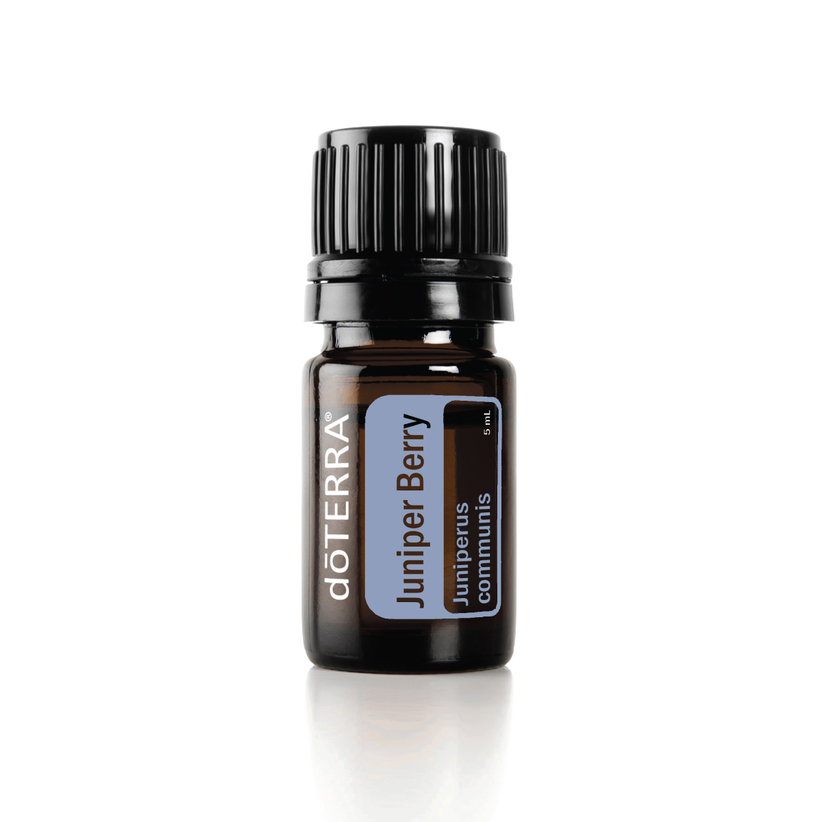 Bottle of doTERRA Juniper Berry oil. What is Juniper Berry essential oil used for? Juniper Berry oil can be used for skin benefits, internal benefits, and to create a grounding atmosphere.