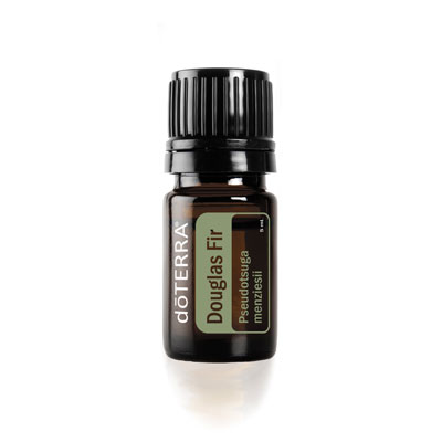 Bottle of doTERRA Douglas Fir essential oil. What is Douglas Fir oil used for? Douglas Fir essential oil can be used for the skin, to clean surfaces, and to purify the air.