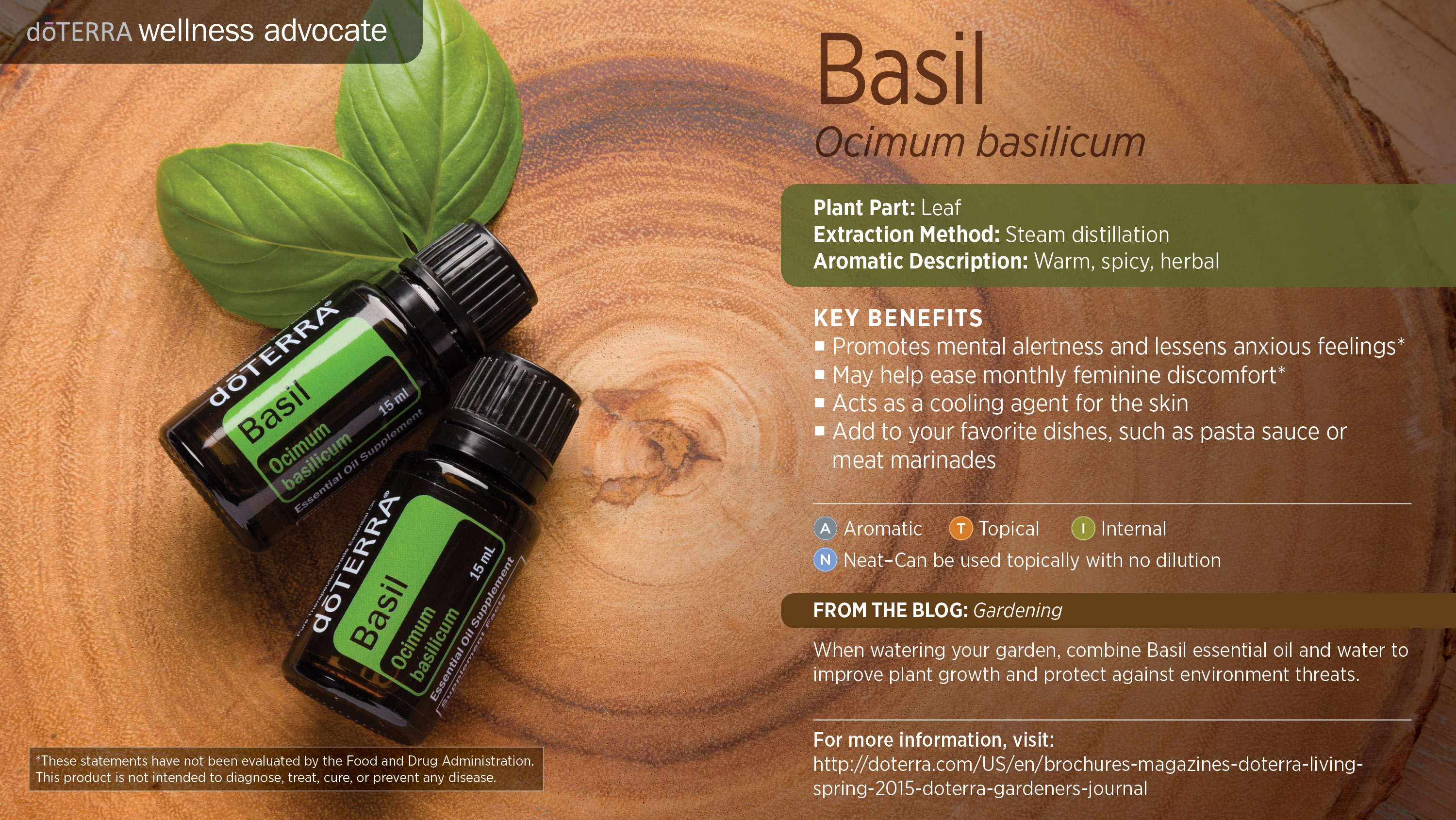 Basil Oil Dōterra Essential Oils