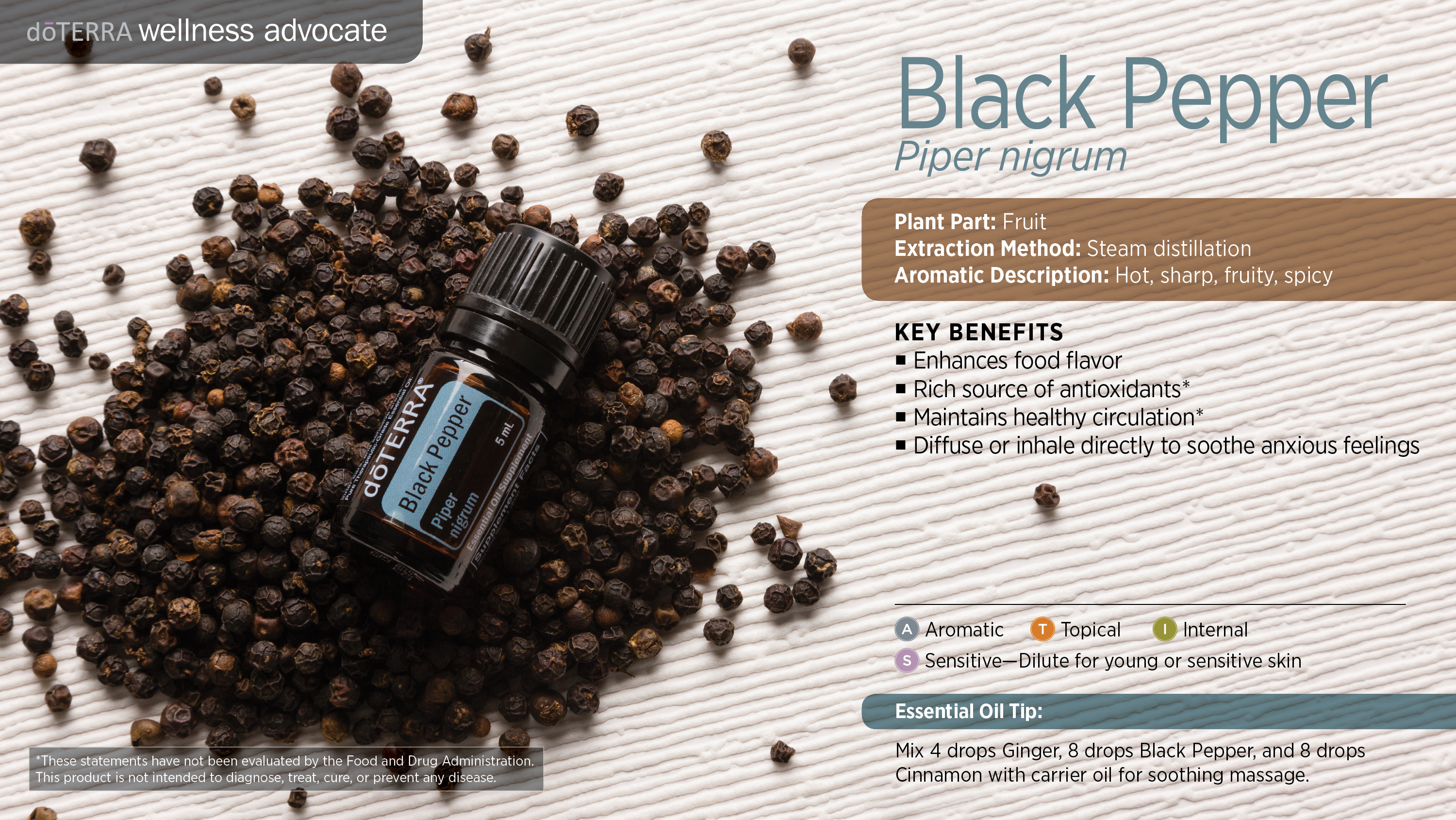 Black Pepper Oil Dōterra Essential Oils