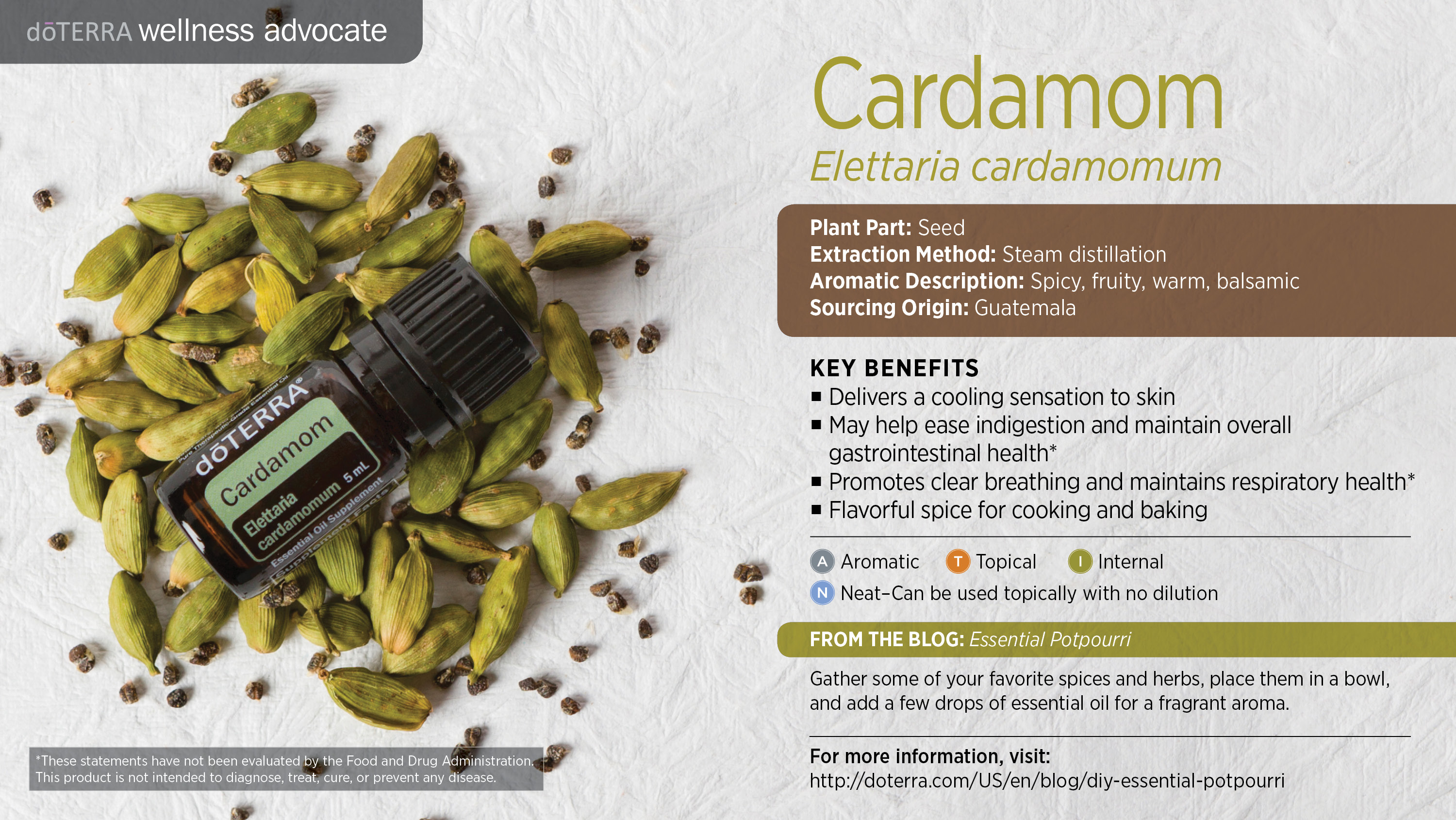 Cardamom Oil Dōterra Essential Oils