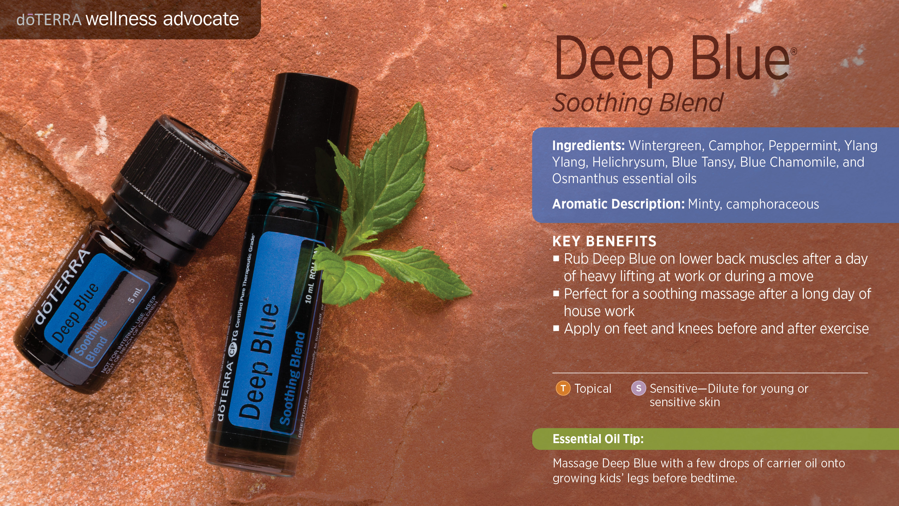 Deep Blue Oil on doterra product information page