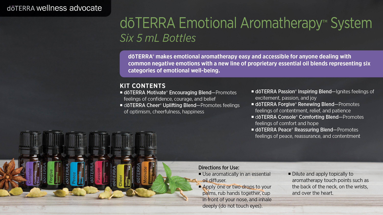 Doterra Emotional Aromatherapy System Dōterra Essential Oils