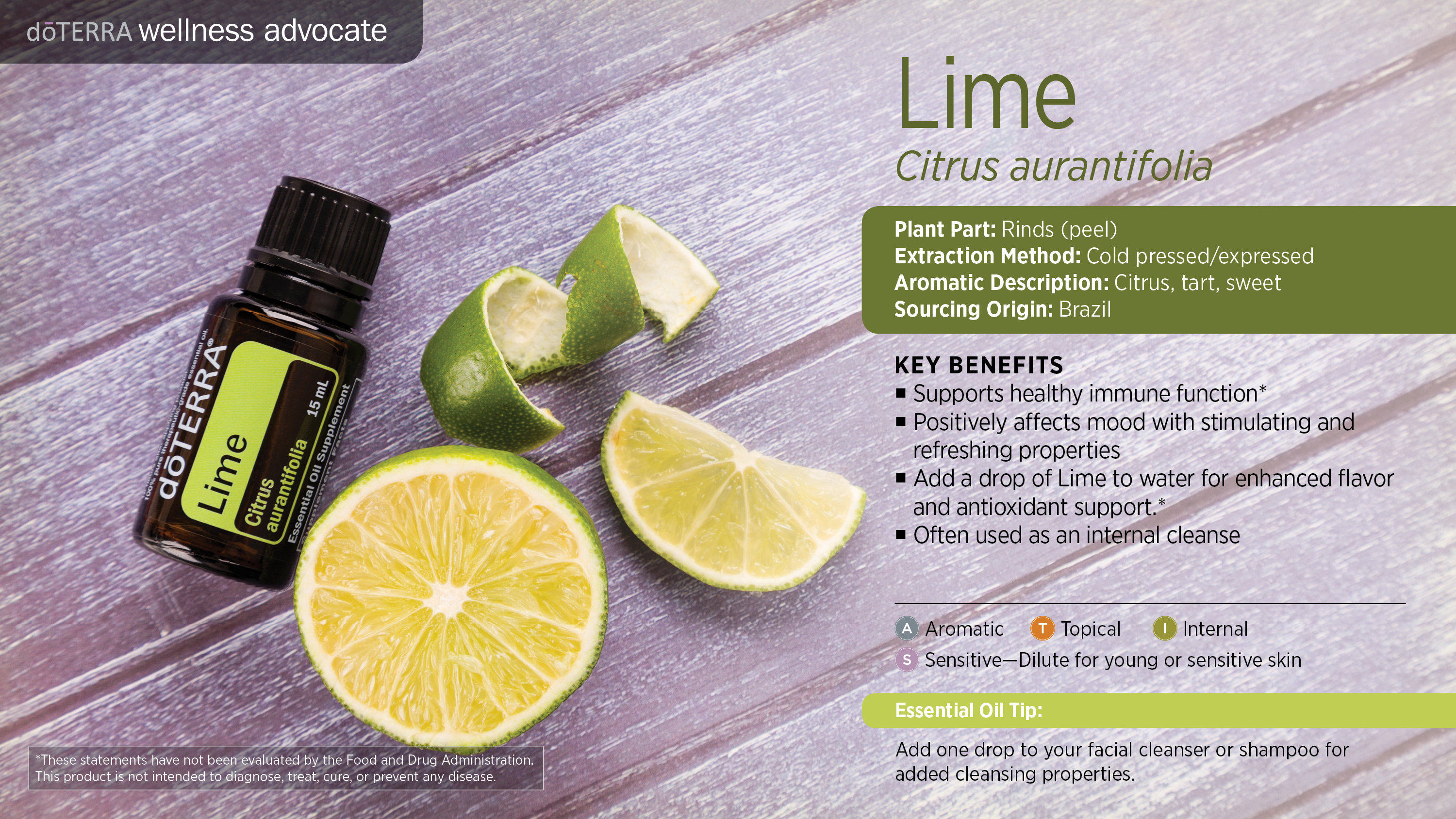 Doterra Lime Essential Oil Uses With Recipes Best