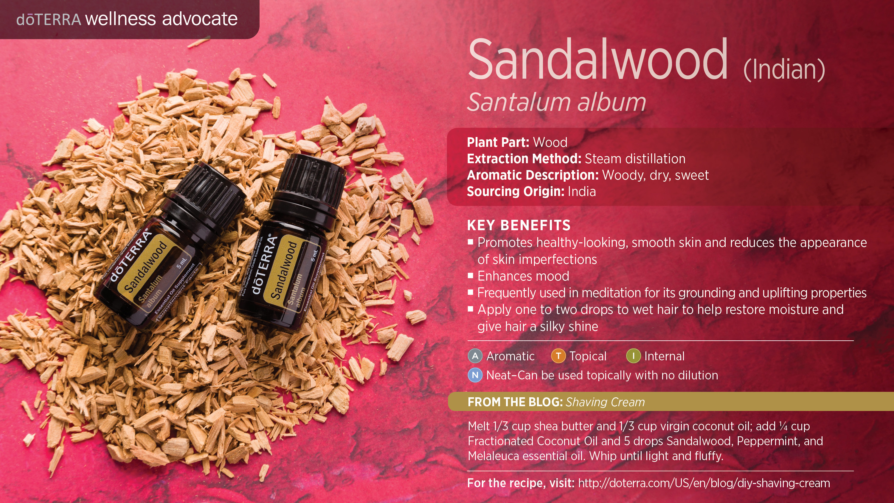 doTERRA Sandalwood Essential Oil Uses with Recipes