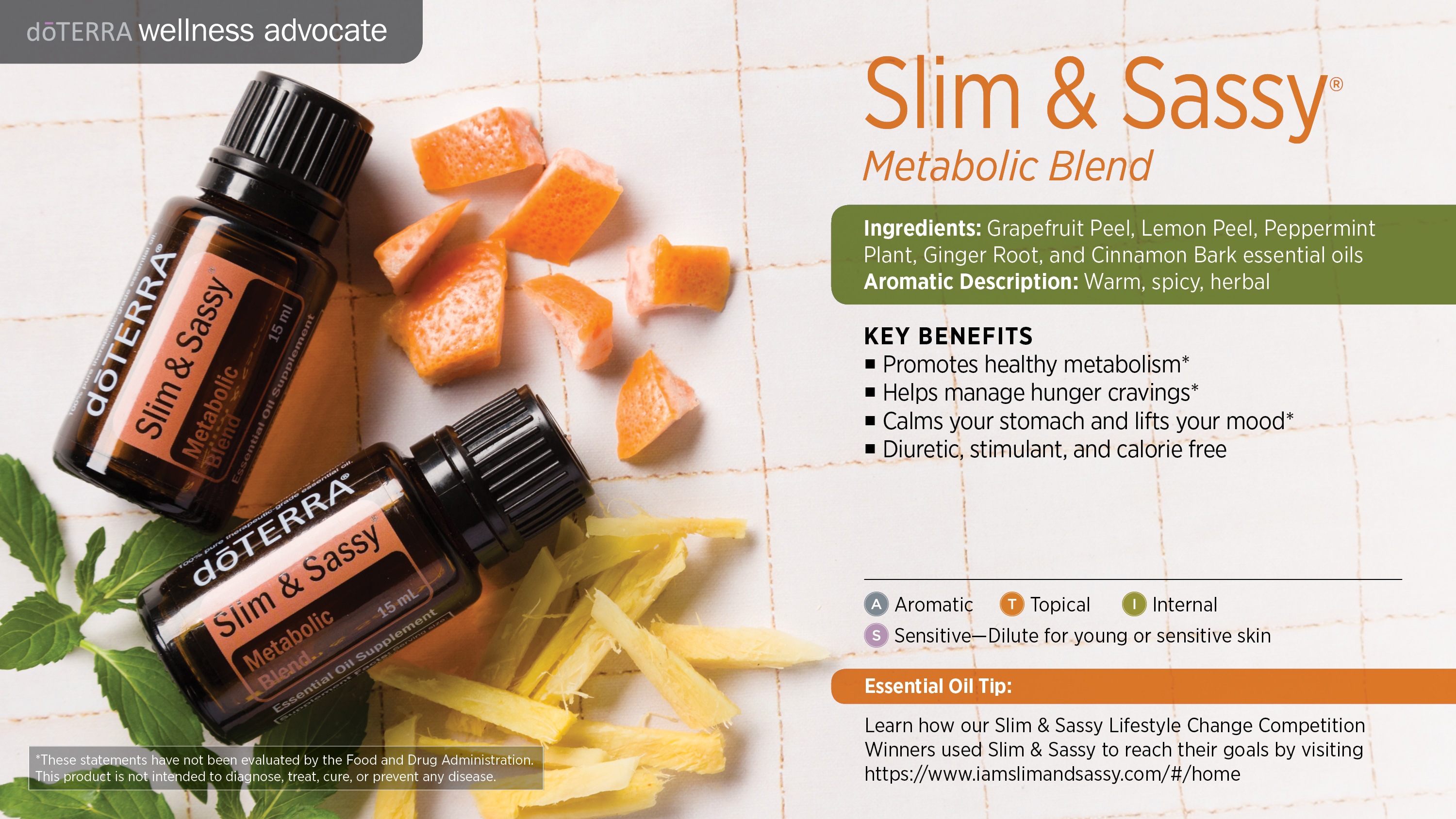 doTERRA Slim and Sassy Metabolic Blend and How to Use It